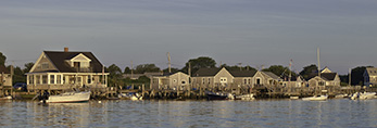 Homes and Boat Houses along Westport River, Westport, MA