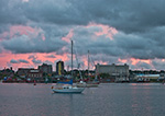 Sunset in Stormy Skies over New Bedford Harbor, New Bedford, MA