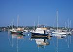 Boats with Reflections in Cuttyhunk Pond, Cuttyhunk Island, Elizabeth Islands, Town of Gosnold, MA