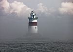 Latimer Reef Light in Patchy Fog, Fishers Island Sound, Long Island, Southold, NY