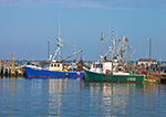 Commercial Fishing Boats on Westport River at Village of Westport Point, Westport, MA