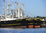 Close-up of Commercial Fishing Boats in New Bedford Harbor, New Bedford,MA