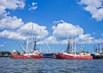 Commercial Fishing Boats at Fairhaven Shipyard, New Bedford Harbor, Fairhaven, MA