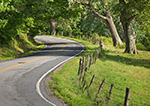 Country Road Through Rural Landscape, Hudson River Valley, Duchess County, Stanford, NY