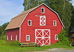 Red Barn with White Trim, Hudson River Valley, Ulster County, Marlborough, NY