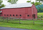 Well-kept Cow Barn with Split Rail Fence, Hudson River Valley, Ulster County, New Paltz, NY