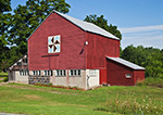 Red Barn with Hex Sign, Hudson River Valley, Duchess County, Pleasant Valley, NY