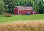 Red Barn and Field, Hudson River Valley, Duchess County, Stanford, NY