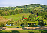 Little Red Barns, Pond and Farmland, Hudson River Valley, Duchess County, Stanford, NY