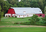 Long Red and White Barn, Hudson River Valley, Duchess County, Stanford, NY