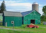 Green Barns and Farm Equipment, Hudson River Valley, Columbia County, Ancram, NY