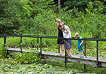 Visitors at Innisfree Gardens, Hudson River Valley, Duchess County, Millbrook, NY