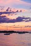 Sailboats at Predawn in Padanaram, Apponagansett Bay, Buzzards Bay, South Dartmouth, MA