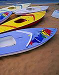 Sunfish Sailboats, Shore of Nantucket Harbor, Nantucket, MA Original: 4x5 inch color transparency