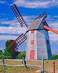"""""""Old Mill"""" Windmill (circa 1746) under Bright Blue Skies, Nantucket, MA Original: 4x5 inch color transparency"""