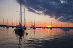 Boats in Red Brook Harbor at Sunset, Buzzards Bay, Cape Cod, Cataumet, Bourne, MA