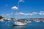 Boats in Falmouth Harbor, Cape Cod, Falmouth Heights, Falmouth, MA