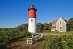 Early Morning Sunlight on Nauset Light, Cape Cod National Seashore, Cape Cod, Eastham, MA