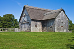 Old Gray Barn with Thatched Roof on Mill Farm, Cape Cod, Yarmouth, MA