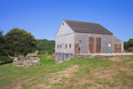 Barn and Stone Wall at Historic Bourne Farm 1775, Cape Cod, Falmouth, MA