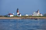 View of Point Judith Light from the Water, Block Island Sound, Rhode Island Sound, Narragansett Bay, Narragansett, RI