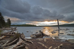 Stormy Skies at Sunset over Moosehead Lake, Lily Bay State Park, Moosehead Lake Region, Beaver Cove Township, ME