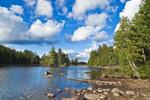 Mathews Cove and Laker Point Area of Moosehead Lake, Lily Bay State Park, Moosehead Lake Region, Beaver Cove Township, ME