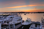 View of Boats at Standish Boat Yard at Sunrise, Looking across Tiverton Basin, Sakonnet River, Tiverton and Portsmouth, RI