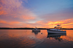 Boats at Sunrise on the Kickamuit River, Bristol and Warren, RI