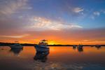 Boats at Sunrise on the Kickamuit River, Bristol and Warren, RI