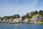 Homes along Shoreline of Tiverton Basin, Sakonnet River, Tiverton, RI