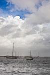 Stormy Skies over Boats in Wickford Harbor, Narragansett Bay, Village of Wickford, North Kingstown, RI
