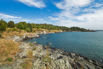 Shoreline of Dutch Island, Dutch Island Harbor, Narragansett Bay, Jamestown, RI