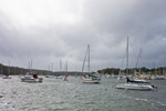 Boats in High Winds and under Storm Clouds, Greenwich Cove, East Greenwich, RI