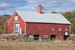 Old Red Barn with Cupola in Fall, Charlestown, NH