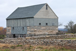 Old Gray Wood and Stone Barn with Stone Walls, Griswold, CT