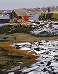 Lobster Shack and Winter Coastline, Mackerel Cove, Bailey Island, Harpswell, ME