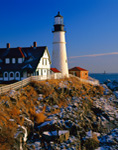 Portland Head Light with Ram Island Ledge Light in Background,  Cape Elizabeth, ME
