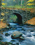 Keystone Bridge in Fall, Middle Branch Swift River, Quabbin Reservation, New Salem, MA