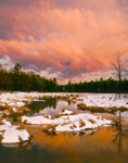 Sunrise over Marshes and Lawrence Brook in Winter, Royalston, MA