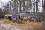 Old Wooden Sugar House with Barn and Firewood, Rindge, NH