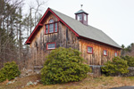Barn with Natural Wood Siding in Late Fall/Early Winter, Fitzwilliam, NH