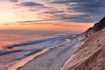 Beach and Cliffs at Sunrise at Cahoon Hollow Beach, Atlantic Ocean, Cape Cod National Seashore, Wellfleet, MA