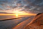 Beach and Cliffs at Sunrise at Cahoon Hollow Beach, Atlantic Ocean, Cape Cod National Seashore, Wellfleet, MA
