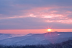 Sunrise over Berkshire Mountains, View from Mohawk Trail, Florida, MA
