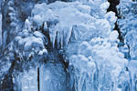 Ice Formations on Hillside along Green River, Colrain, MA