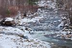 Roaring Branch (Roaring Brook) in Winter after Light Snowfall, Bennington, VT