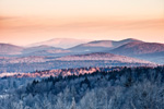 Early Morning Light at -2 Below Zero, Green Mountains, Green Mountain National Forest, View from Wilmington, VT