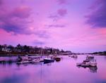 Sunset over Boats in York Harbor, York, ME