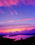 Sunset over Mooselookmeguntic Lake, Rangeley Lakes Region, Rangeley, ME